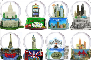 Destination City Snow Globes from Around the World